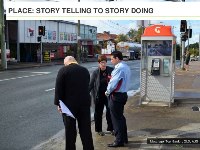 PLACE: STORY TELLING TO STORY DOING Macgregor Tce, Bardon, QLD, AUS