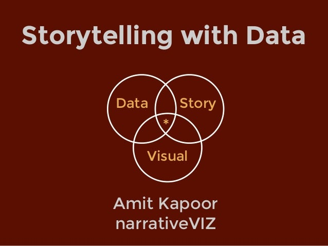 Amit Kapoor narrativeVIZ Storytelling with Data Data Visual Story *