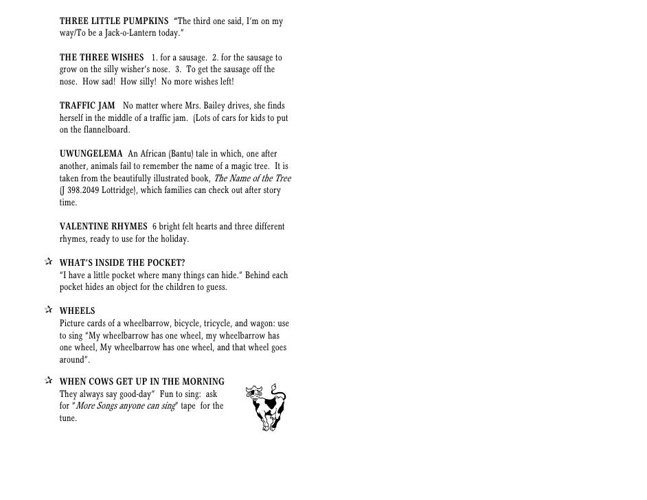 Storytime handbook for Little fish song