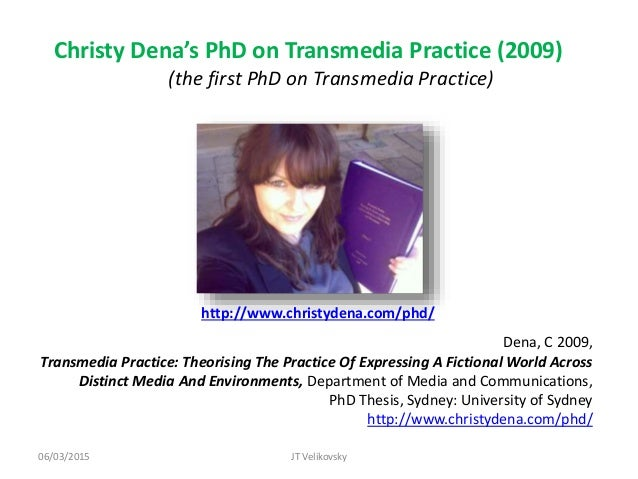 Christy dena phd thesis