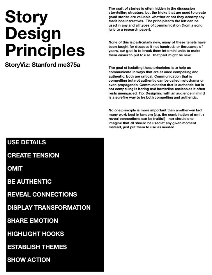 Story                            The craft of stories is often hidden in the discussion                            storyte...