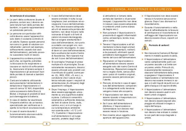 98 2. LEGENDA, AVVERTENZE DI SICUREZZA Avvertenze di sicurezza  Le parti della confezione (buste di plastica, cartoni ecc...