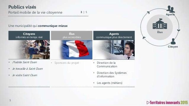 5 Publics visés Portail mobile de la vie citoyenne • Sponsors du projet Élus plus accessibles • Direction de la Communicat...