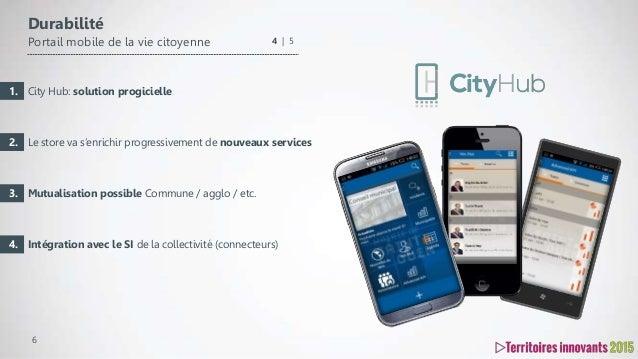 6 City Hub: solution progicielle Le store va s'enrichir progressivement de nouveaux services Mutualisation possible Commun...