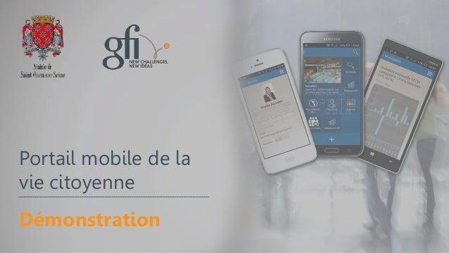 Portail mobile de la vie citoyenne Démonstration