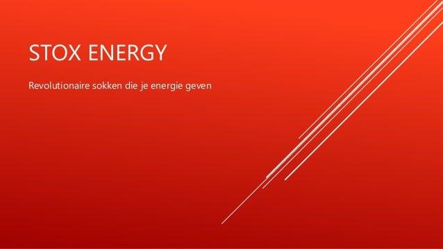 STOX ENERGY Revolutionaire sokken die je energie geven