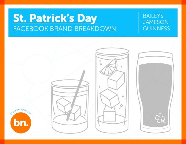 bn.co St. Patrick's Day Facebook Brand Breakdown Baileys Jameson guinNess bn. B ROUGHT TO YOU B Y: