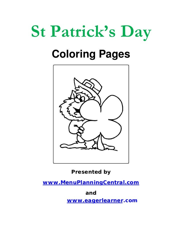zabbar st patricks day coloring pages - photo #37