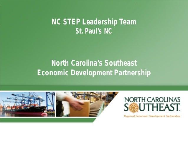 NC STEP Leadership Team          St. Paul's NC    North Carolina's SoutheastEconomic Development Partnership