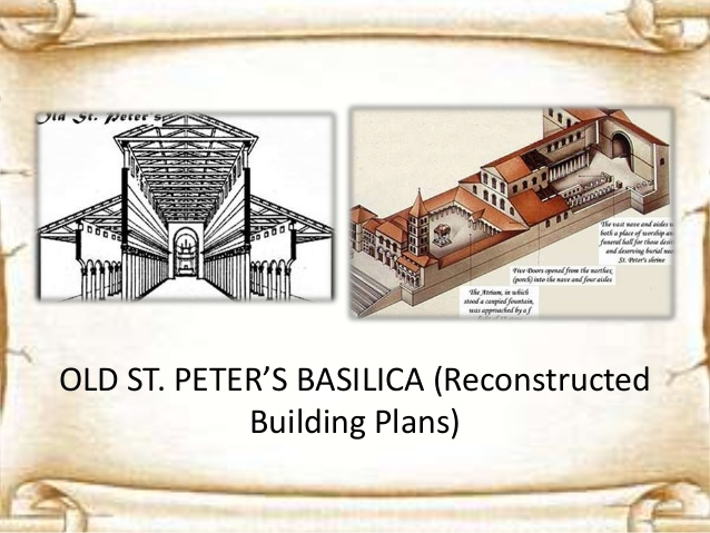 St Peter's Basilica - Church Building Floor Plans