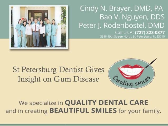 St Petersburg Dentist Gives Insight on Gum Disease