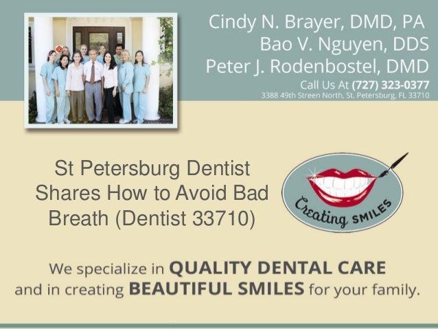 St Petersburg DentistShares How to Avoid Bad Breath (Dentist 33710)