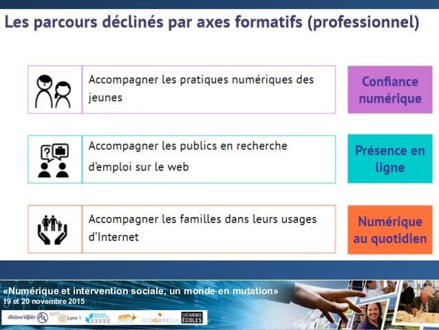 «Numérique et intervention sociale, un monde en mutation» 19 et 20 novembre 2015