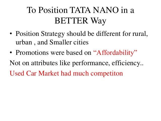 Tata Nano Case Study