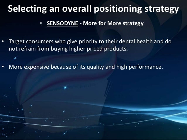 sensodyne pricing strategies View carmen wong's full profile it's free your colleagues, classmates, and 500 million other professionals are on linkedin view carmen's full profile.