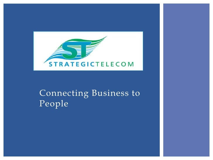 Connecting Business toPeople