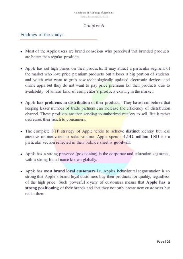 apple inc market segmentation