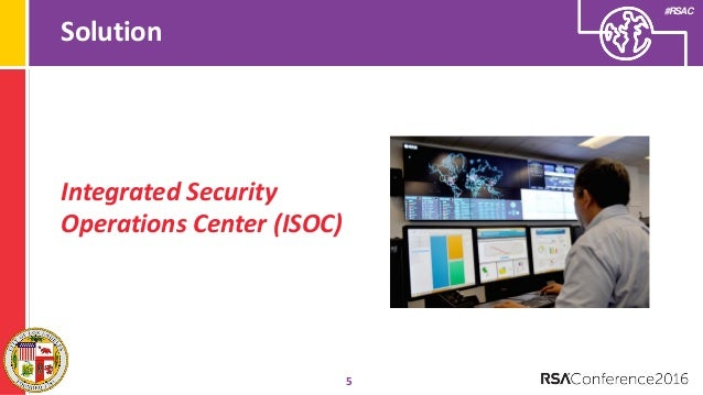 Integrated Security Operations Center (ISOC) for