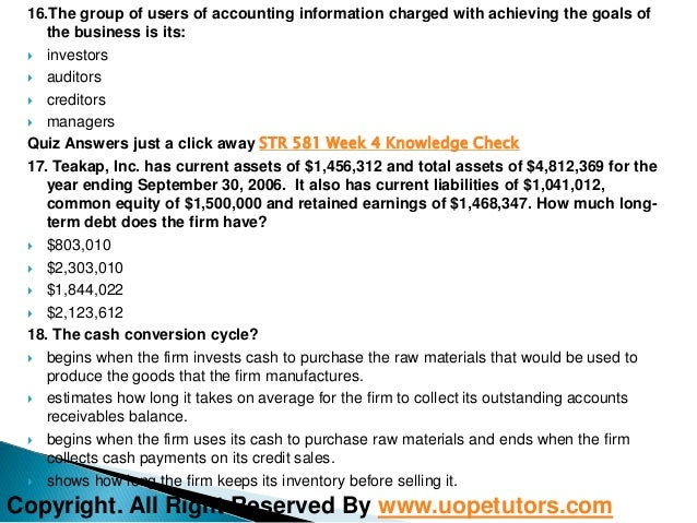 str 581 quiz Str/581 guide 3 click here to download the tutorial1) 3m, hewlett- d advisory   decision best addresses which of the following questions.