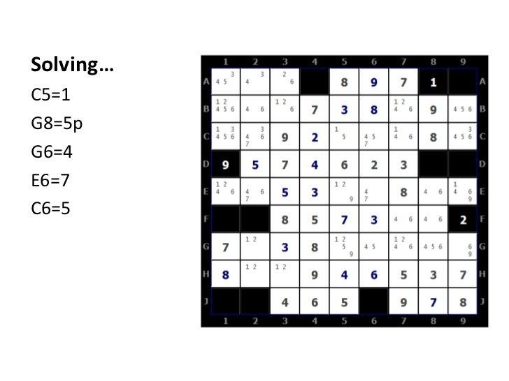 Solving…<br />C5=1<br />G8=5p<br />G6=4<br />E6=7<br />C6=5<br />