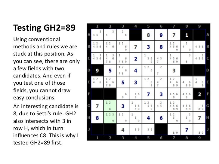 Testing GH2=89<br />Using conventional methods and rules we are stuck at this position. As you can see, there are only a f...