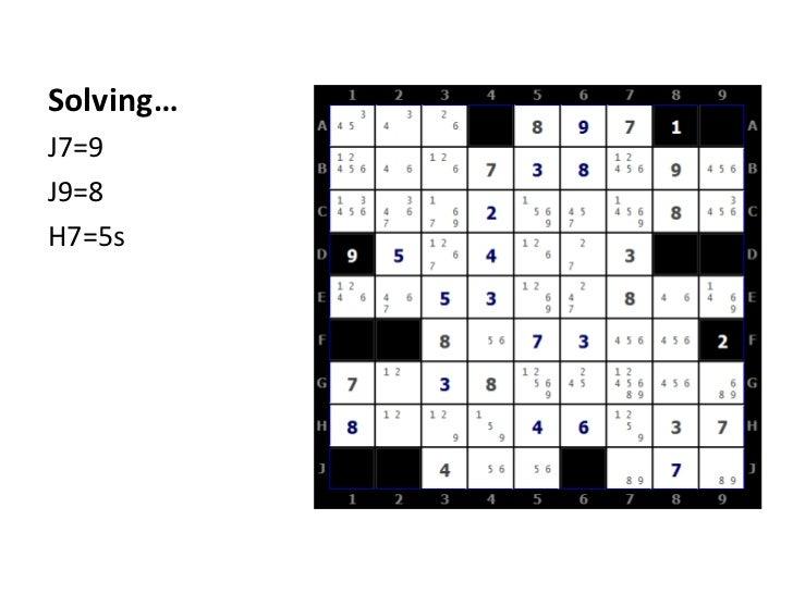 Solving…<br />J7=9<br />J9=8<br />H7=5s<br />