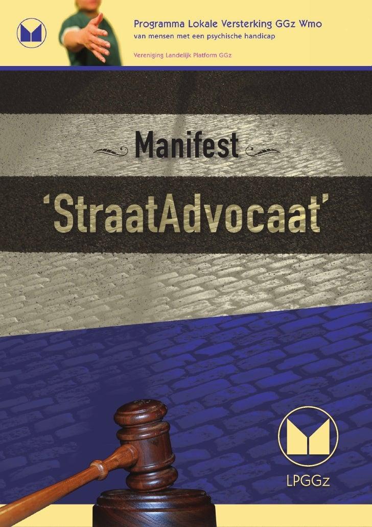 Manifest  'StraatAdvocaat'