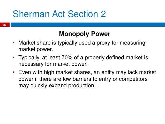 sherman anti trust act