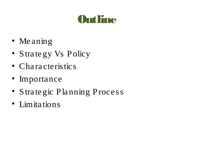 Strategic planning & management by objectives (mbo)