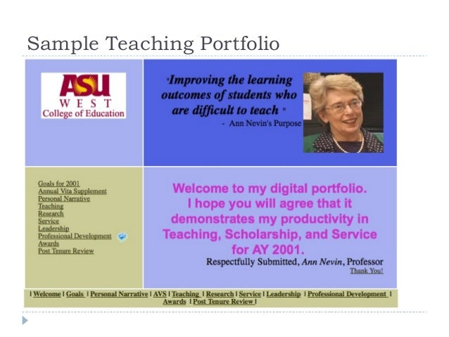 Sample Teaching Portfolio