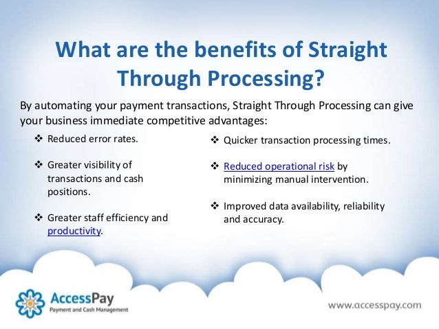Straight Through Processing Uk Online Payment Methods