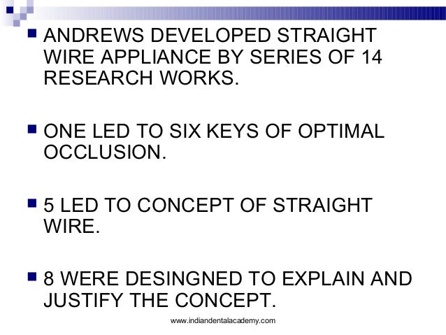 Straight wire appliance