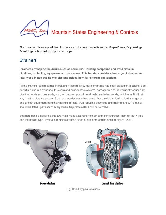 Mountain States Engineering & Controls  Thisdocumentisexcerptedfromhttp://www.spiraxsarco.com/Resources/Pages/Steam...