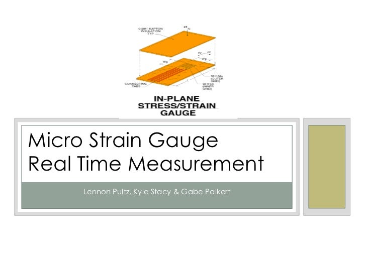 Micro Strain Gauge <br />Real Time Measurement<br />Lennon Pultz, Kyle Stacy & Gabe Palkert<br />