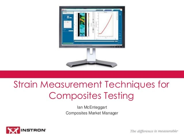 Ian McEnteggart Composites Market Manager Strain Measurement Techniques for Composites Testing