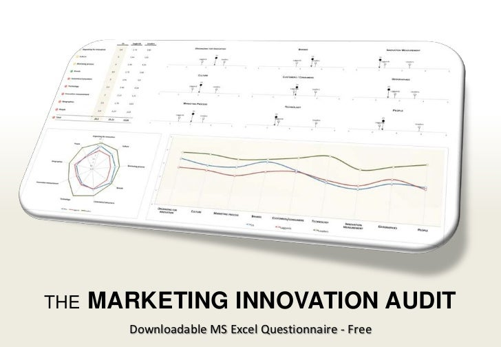 THE               MARKETING INNOVATION AUDIT                                             Downloadable MS Excel Questionnai...