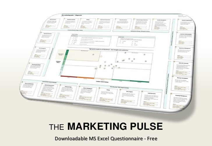 THE               MARKETING PULSE                                             Downloadable MS Excel Questionnaire - Free1 ...