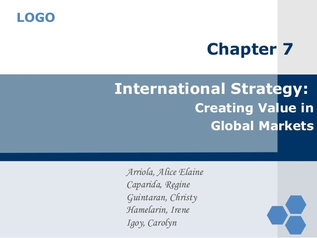 LOGO                                Chapter 7       International Strategy:                          Creating Value in    ...