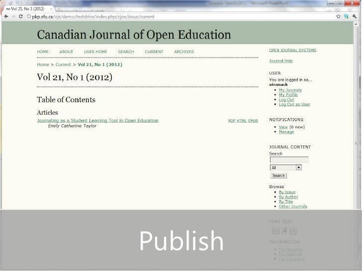 • Publish slide                  Publish