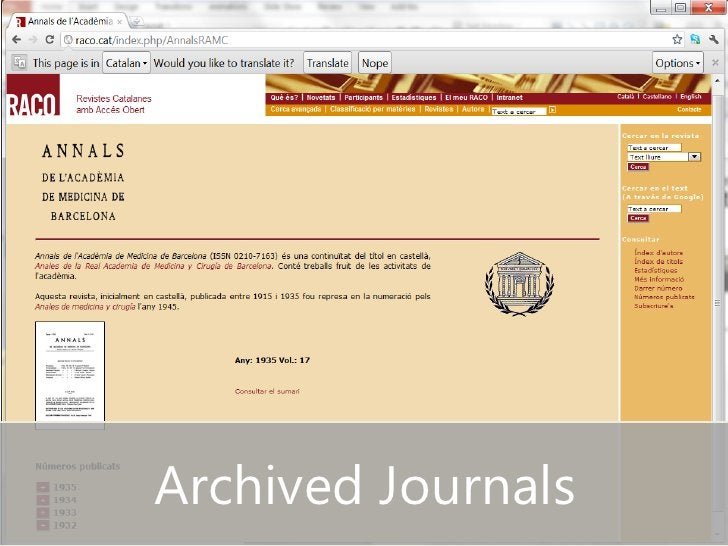 Archived Journals
