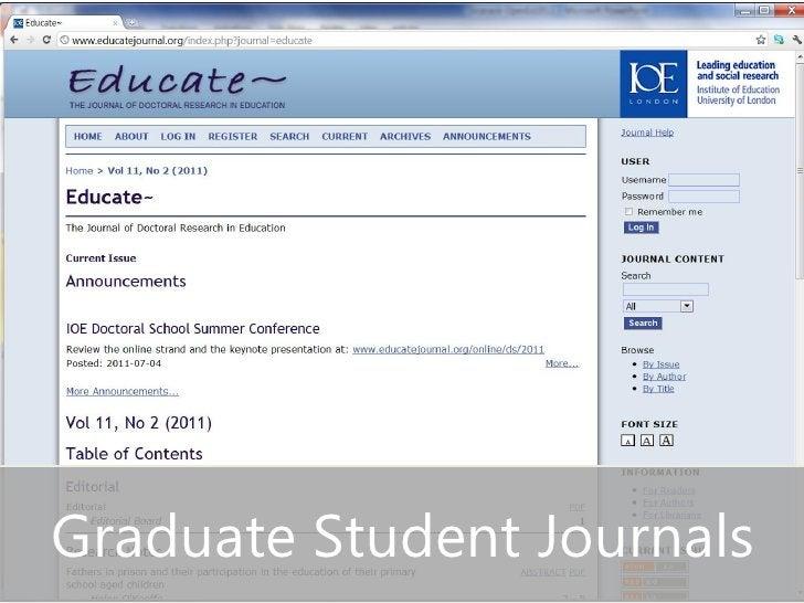Graduate Student Journals