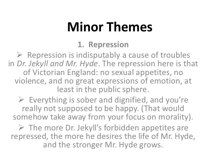 thesis statement for dr jekyll and mr hyde