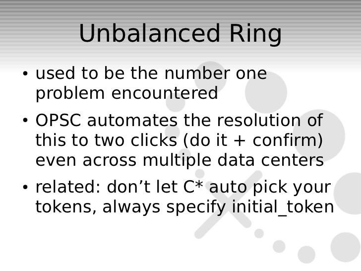 Unbalanced Ring●   used to be the number one    problem encountered●   OPSC automates the resolution of    this to two cli...