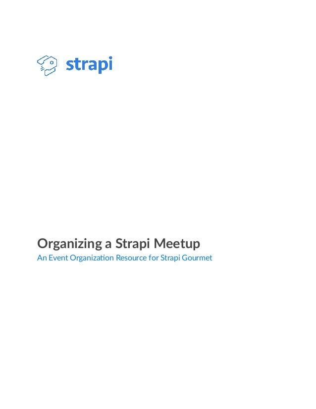 Strapi Meetup whitepaper