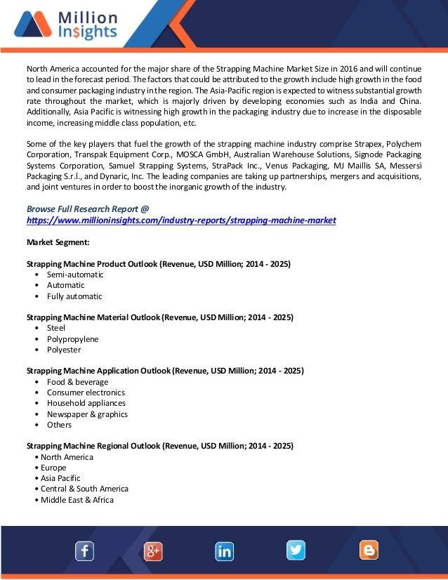 Strapping machine market methodology, overview, segmentation, trend a…