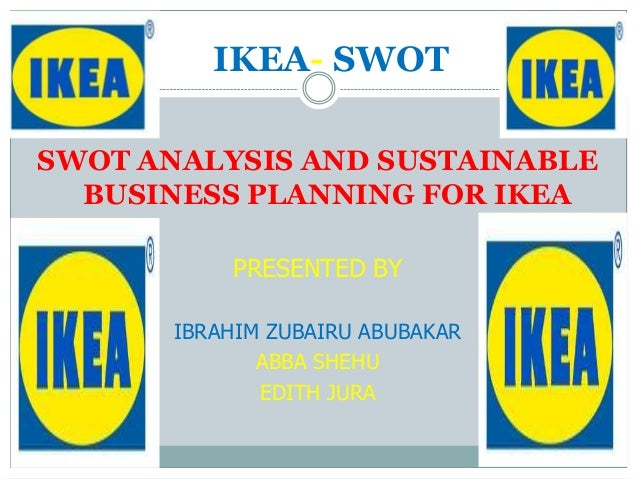 ikea swot analysis Ikea in china (key points) this presentation will consist of - background of the company why ikea entered the chinese market swot analysis pestle analysis.
