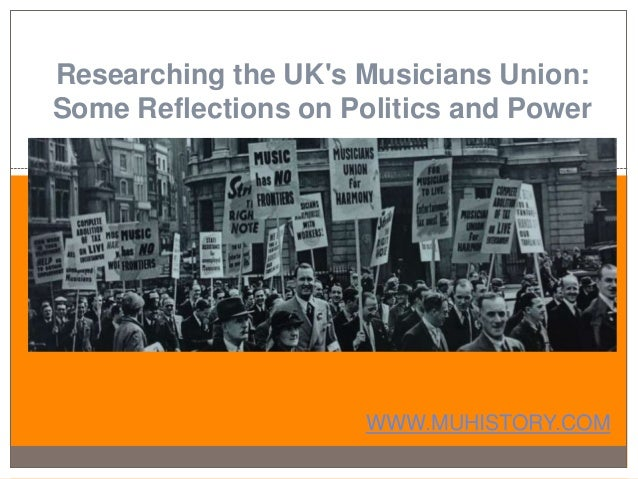 Researching the UK's Musicians Union: Some Reflections on Politics and Power WWW.MUHISTORY.COM