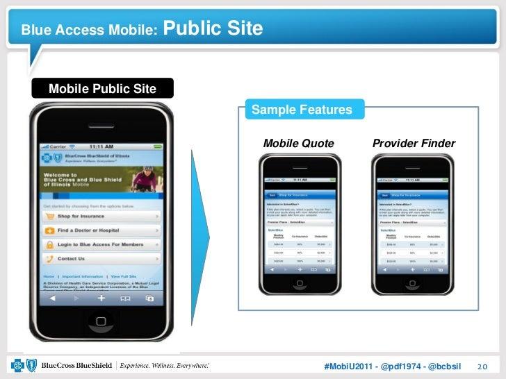 Blue Access Mobile:     Public Site   Mobile Public Site                                 Sample Features                  ...
