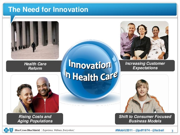 The Need for Innovation     Health Care                Increasing Customer       Reform                       Expectations...