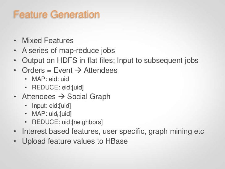 HBase• Collect data from multiple Map Reduce jobs   • Stores entire social graph   • Over one million writes per second